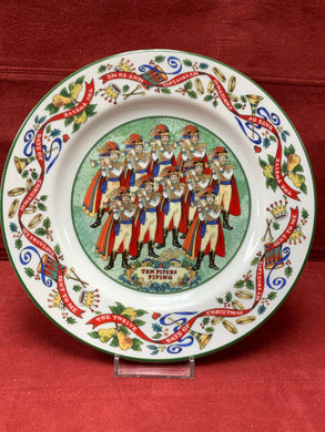 Royal Worcester,  The 12 days of Christmas.  Plate #10