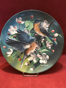 Collector Plate. The Bluebird, by Kevin Daniels. 9-1/4