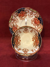 Load image into Gallery viewer, Bell China,. England. Cup and Saucer.  Imari Pattern-   Rust Floral, Blue/Gold