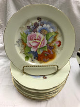 Load image into Gallery viewer, Plates, Occupied Japan,  set of  10-Porcelain Luncheon plates, vintage, floral