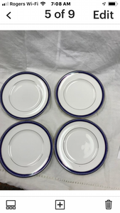 Firenze, Avalon, by Royal Worcester, England, Set of  4, Cream soup Bowls with Underplates
