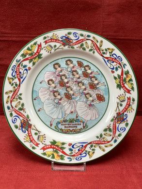 Royal Worcester, .  The 12 days of Christmas.  Plate # 11