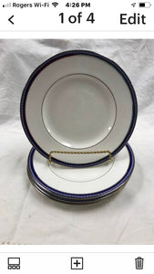 Firenze, Avalon, by Royal Worcester, England, Set of 4,  Bread and Butter Plates