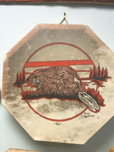 Load image into Gallery viewer, Drum, Indigenous, Beaver, Percy LeMaigre,