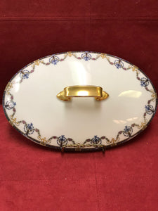 Limoges, Jean Pouyat, Covered Oval Veg.Dish