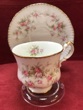 Load image into Gallery viewer, Paragon, England. Cup and Saucer. Victoriana Rose, pink roses