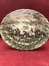 "Load image into Gallery viewer, Johnson Brothers, Tally Ho, Oval Platter, ""The Meet"""