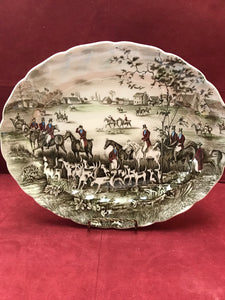 "Johnson Brothers, Tally Ho, Oval Platter, ""The Meet"""