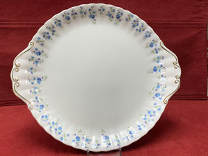 Royal Albert, Memory Lane, Cake Plate. Forget-Me-Nots
