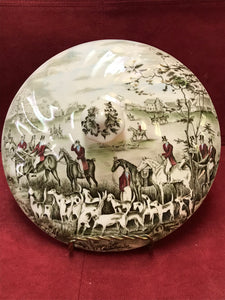 "Johnson Brothers, England. Tally Ho, Lid for Covered Vegetable Dish, ""The Meet"" 7-3/4"