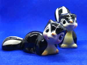 Japan. Collectible Salt and Pepper. Striped Skunk