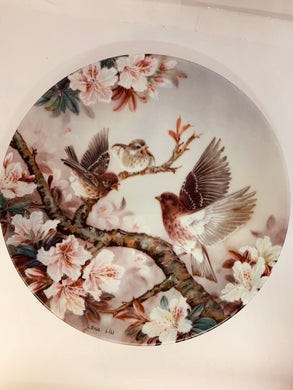 "Collector Plate- Lena Liu- .  Nature's Poetry Series- #7.  ""Melody at Daybreak"""