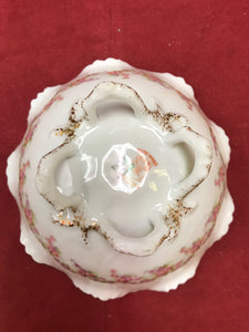 Limoges,  Bridal Wreath, footed dish