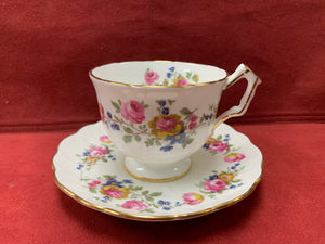 Aynsley. England. Cup and Saucer.   Mixed Floral