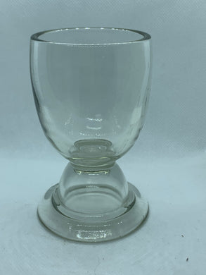 Egg Cup.  Unmarked.  Pressed Glass. Double sided Egg Cup.