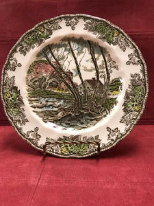 Johnson Bros. England, Friendly Village,  Luncheon Plates, Willow by the Bank
