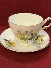 Load image into Gallery viewer, Regency, England.  Cup and Saucer.  Yellow Roses