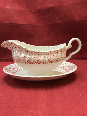 Johnson Brothers, Rose Bouquet, Gravy Boat and Under-tray