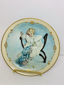 "Collector Plate- Hamilton Collection USA. From the ""Little Ladies"" Collection. 1989 .  The Seamstress. 8-1/2"""