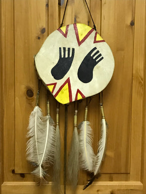 Indigenous. Canada. Drum. Double Sided. Bear Foot. 11