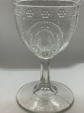 Load image into Gallery viewer, Nova Scotia , Pressed Glass, Goblet,  Raspberry Shield.  Antique.  HOLD For CEES
