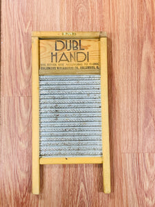 Tools. Wash Board- Wooden with Metal. Double Handi.  9