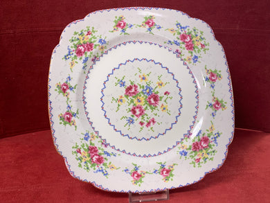Royal Albert, Petit Point, Luncheon/Salad Plate- Square- 7-5/8""