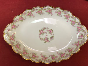 "Limoges, , Bridal Wreath, Serving Platter 11-1/2"" x 8"""