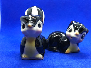 Salt and Pepper Shakers.  Japan. Striped Skunk.