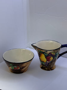 "H&K Tunstall, R.Grocott, ""Luscious"" Creamer  and Sugar"