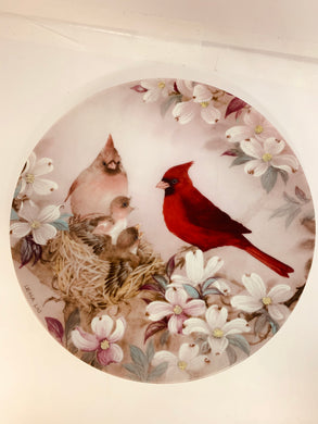 "Collector Plate- Lena Liu- .  Nature's Poetry Series- #1.   ""Morning Serenade"""