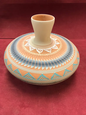 "Pottery, Vase, Navajo, by Hilda Whitegoat. ""RESERVED FOR NIKITTA"""