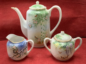 Teapot, Covered Sugar bowl, Creamer