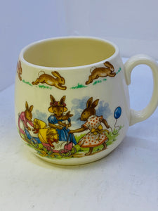 Royal Doulton. England. Bunnykins.  Mug. Doll Party.