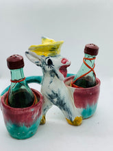 Load image into Gallery viewer, Salt and Pepper. Italy. Dokey with Wine Bottles