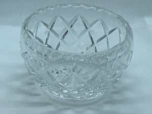 Crystal. Hand Cut. Creamer and Sugar Bowl. Diamond pattern