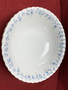 Royal Albert, Memory Lane, Round Serving Bowl.  Forget-Me-Nots