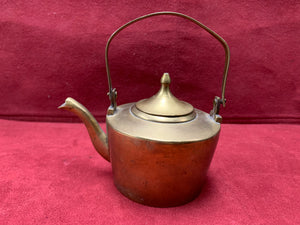 "England, Brass Kettle. Tradesman's Sample 2-1/2""D x 2"" H"