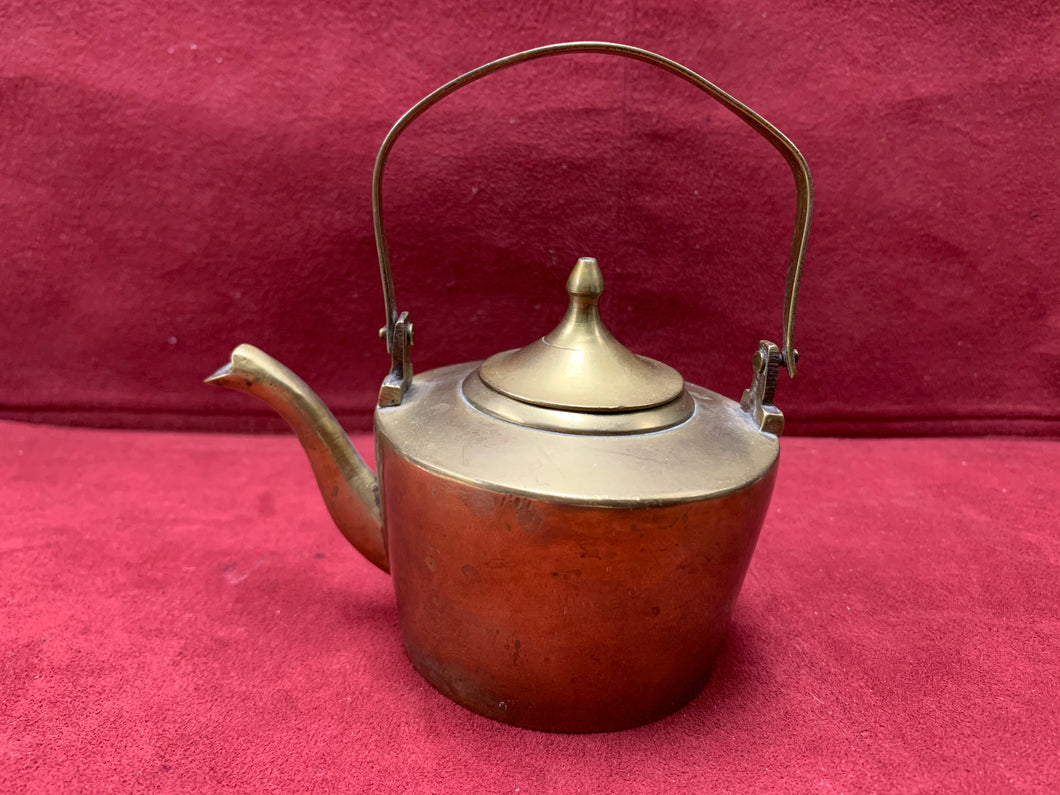 England, Brass Kettle. Tradesman's Sample 2-1/2