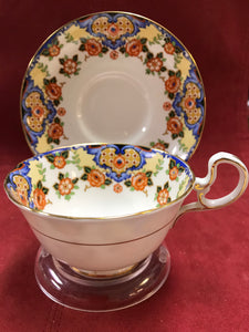 Aynsley, England. Cup and Saucer. Mixed Floral