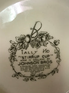 "Johnson Brothers, Tally Ho, Salad Bowl, ""Stirrup Cup"" -12"" diameter"