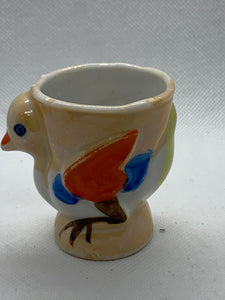 Egg Cup. Japan. Little Chick with egg cup on its back.