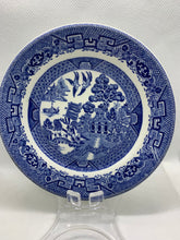 Load image into Gallery viewer, John Maddock & Sons Ltd, England. Vitrified Small Plate- blue and white. 5""