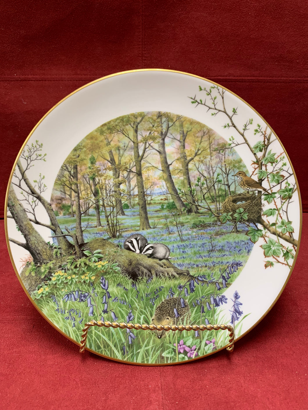 Collector Plate. The Woodlands in April - by Peter Banett.  9-1/4