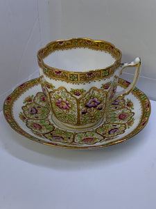Royal Albert-Court Crown China. England- Demitasse Cup and Saucer
