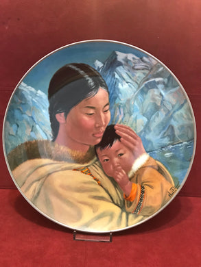 "Collector Plate. ""Motherhood"",   by Nori Peter. 10"""