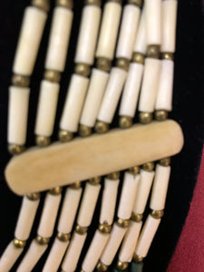 Indigenous, 1st Nastions. Necklace. Bone Bead, Multi-Strand, VIntage