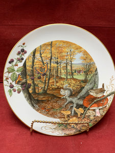 Collector Plate. The Colours of Autumn in October  by Peter Banett. 9-1/4""