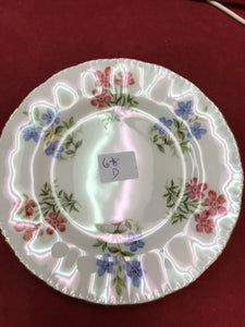 Butterdish, Paragon, Pink and Blue Flowers