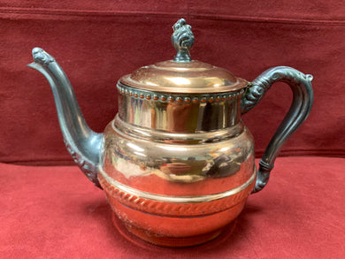 Unmarked- Copper/Pewter Teapot